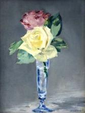 Manet, Rose in un bicchiere da champagne.png