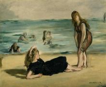 Manet, Sulla spiaggia [1868 circa].jpg