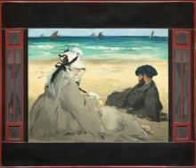 Manet, Sulla spiaggia [1873] [cornice].jpg