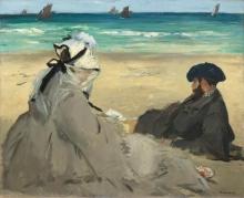 Manet, Sulla spiaggia [1873].jpg
