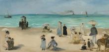 Manet, Sulla spiaggia, Boulogne sur Mer   Sur la plage, Boulogne-sur-Mer   On the beach, Boulogne-sur-Mer