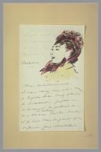 Manet, Testa di donna decorante una lettera.jpg