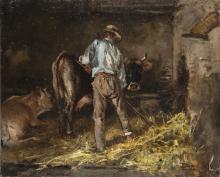 Pompeo Mariani, Nella stalla