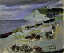 Matisse, Barche sulla spiaggia, Etretat   Barques sur la plage, Etretat   Boats on the beach, Etretat
