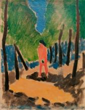 Matisse, Nudo in un paesaggio assolato | Nu dans un paysage ensoleillé | Nude in a forest