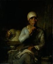 Millet (attribuito a), Donna e bambino (Silenzio).jpg