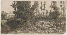 Millet, Alberi lungo il letto pietroso di un ruscello.jpg