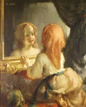 Millet, Antoinette Hebert che si guarda allo specchio.jpg