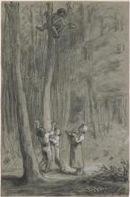 Millet, Bambini a caccia di nidi di uccelli | Enfants chassant nids d'oiseaux | Children hunting birds' nests