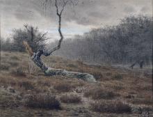 Jean-François Millet, Betulla morta, crocicchio dell'Épine, foresta di Fontainebleau | Bouleau mort, carrefour de l'Epine, forêt de Fontainebleau