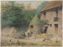 Millet, Casa con un pozzo a Gruchy.jpg
