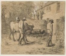 Millet, Contadini che portano a casa un vitello appena nato.jpg