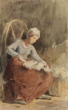 Millet, Donna che carda la lana.jpg