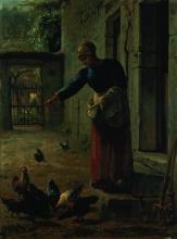 Millet, Donna che da da mangiare alle galline [1853-1856 circa].jpg