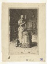 Millet, Donna che fa il burro nella zangola [1855].jpg