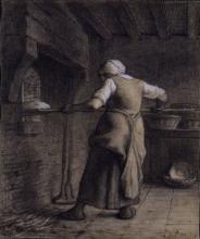 Millet, Donna che inforna il pane.jpg