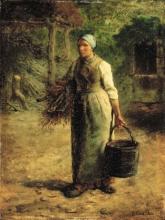 Millet, Donna che porta legna da ardere e un secchio.jpg