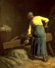 Millet, Donna che spezza il lino per la filatura.jpg
