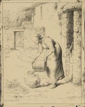 Millet, Donna che svuota un secchio.jpg