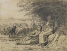 Millet, Due pastorelle e il loro gregge.jpg