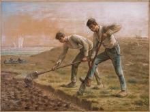 Millet, Due vangatori   Deux bêcheurs   Two men turning over the soil