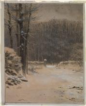 Millet, Entrata della foresta a Barbizon in inverno.jpg