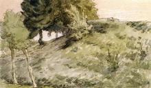 Millet, Fianco di collina boscoso sopra Vichy.jpg