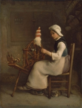 Millet, Filatrice seduta (Emelie Millet).jpg