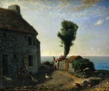 Millet, Fine del borgo di Gruchy [1856].jpg