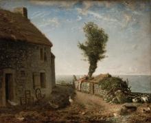 Millet, Fine del borgo di Gruchy [1866].jpg