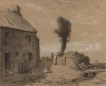 Millet, Fine del borgo di Gruchy.jpg