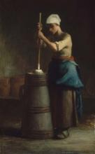 Millet, Giovane donna che fa il burro nella zangola.jpg