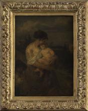 Millet, Giovane madre in un paesaggio [cornice].png