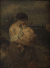 Millet, Giovane madre in un paesaggio.png