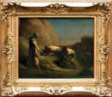 Millet, Gli affastellatori di fieno [cornice].jpg