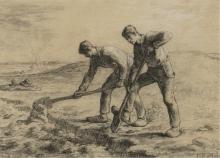 Millet, I due vangatori | Les deux bêcheurs | Two diggers