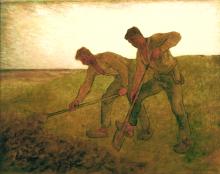 Millet, I vangatori | Les bêcheurs | The diggers