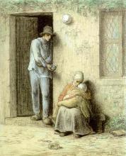 Millet, Il bambino malato [1858].jpg