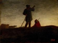 Jean-François Millet, Il richiamo del gregge   Recalling the flock