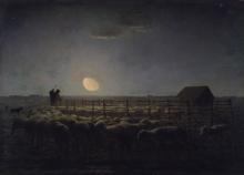 Jean-François Millet, L'ovile, chiaro di luna