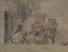 Jean-François Millet, L'uccisione del maiale