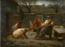 Millet, L'uccisione del maiale.png