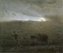 Millet, L'uomo e l'asino che tornano a casa al crepuscolo.jpg