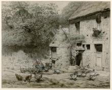 Millet, La casa del pozzo a Gruchy   La maison du puits à Gruchy