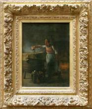 Millet, La lisciviatrice [1853-1854 circa][cornice].jpg