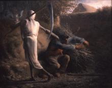 Jean-François Millet, La morte e il taglialegna | Døden og brændehuggeren | La mort et le bûcheron | Death and the woodcutter