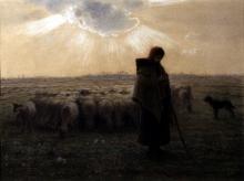 Millet, La pastorella e il suo gregge [1862-1867].jpg