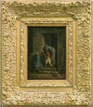 Millet, La precauzione materna [1857-1858 circa][cornice].jpg