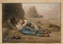 Millet, La siesta [1866].jpg