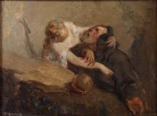 Jean-François Millet, La tentazione di sant'Antonio   La tentation de saint Antoine